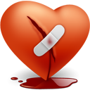 broken, heart, love, valentine's day icon