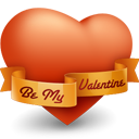 be my valentine, heart, love, valentine's day icon