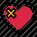 broken heart, heart, love, pain, valentine's day, wound icon