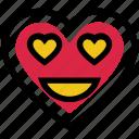 emoji, face, happy, heart, love, valentine's day