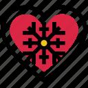 cold, heart, love, snow, valentine's day, winter