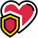 heart, love, protect, security, shield, valentine's day