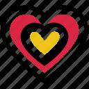 heart, hearts, like, love, romance, valentine's day icon