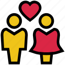 couple, heart, love, marriage, romance, valentine's day icon