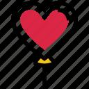 balloon, heart, love, party, romance, valentine's day icon