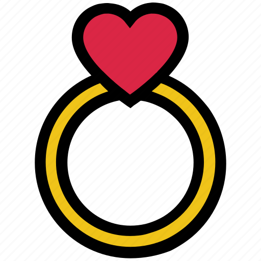couple, engagement, heart, love, ring, valentine's day, wedding icon