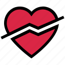 disabled, heart, love, off, slash, valentine's day
