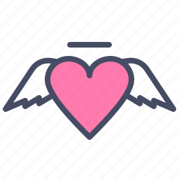 angel, cupid, day, heart, love, romance, valentines icon