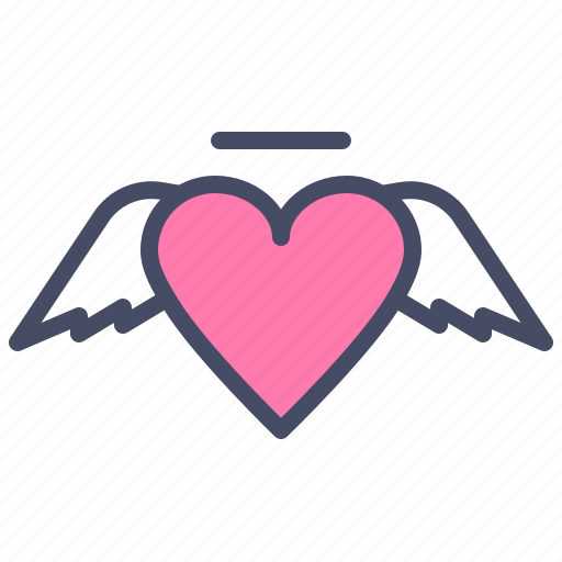 Angel, cupid, day, heart, love, romance, valentines icon - Download on Iconfinder