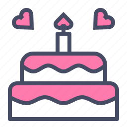 cake, celebrate, day, love, romance, valentines, wedding icon