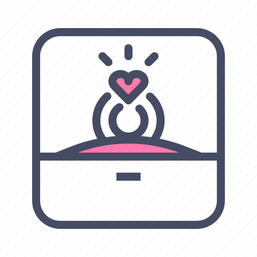 engagement, love, marriage, propose, ring, valentines, wedding icon