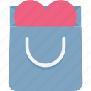 gift offer, heart sign, shopping bag, special offer icon