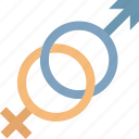 female, gender, male, relationship icon