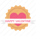 congratulations, gift decoration, greetings, heart emblem icon