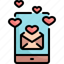 communication, email, love, message, romance, valentine, valentines icon