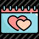 calendar, day, love, romance, valentine, valentines, valentines day