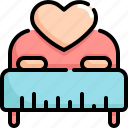 bed, hotel, love, romance, sex, valentine, valentines icon