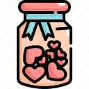 bottle, heart, love, romance, valentine, valentines