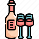 alcohol, beverage, bottle, drinks, restaurant, romance, wine icon