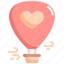 air, balloon, heart, love, romance, valentine, valentines