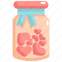 bottle, heart, love, presents, romance, valentine, valentines