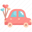 car, honeymoon, love, romance, travel, valentine, valentines
