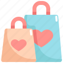 bag, love, romance, shopping, valentine, valentines