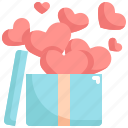 balloon, box, heart, presents, romance, valentine, valentines