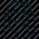 bag, heart, love, shopping, valentine