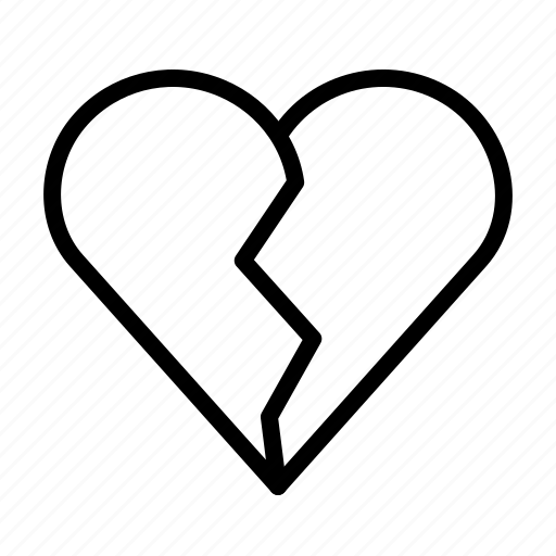 Break, breakup, heart, love, romance, up, valentines icon - Download on Iconfinder
