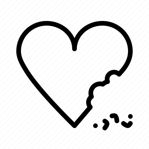 Bite, cake, celebrate, chocolate, heart, love, valentines icon - Download on Iconfinder