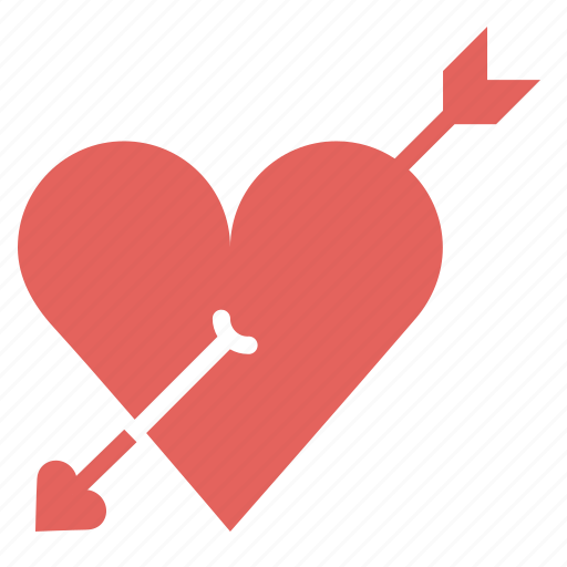 arrow, cupid, heart, love, marriage, romance, valentines icon
