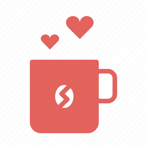 coffee, cup, day, heart, love, romance, valentines icon