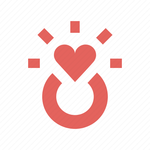engagement, heart, love, propose, ring, valentines, wedding icon