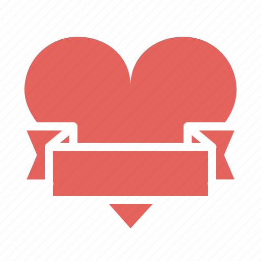 gift, heart, love, ribbon, romance, valentines, wrap icon