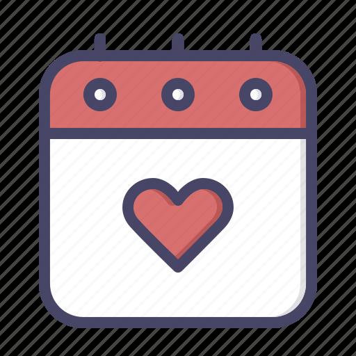 calendar, day, love, romance, valentines icon
