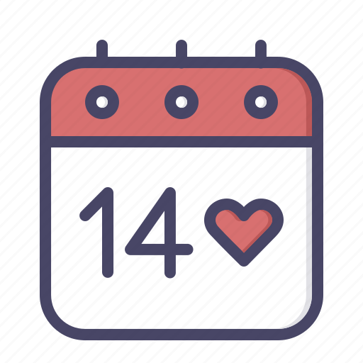 calendar, date, day, love, romance, valentines icon