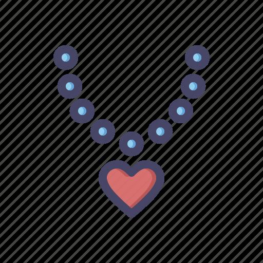 diamond, gift, heart, love, necklace, pendant, wedding icon