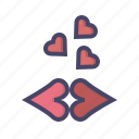 kiss, kisses, lips, love, romance, romantic, valentines icon