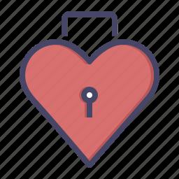 day, heart, keyhole, lock, romance, valentines icon