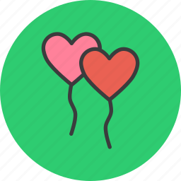 balloon, celebrate, day, heart, love, romance, valentines icon