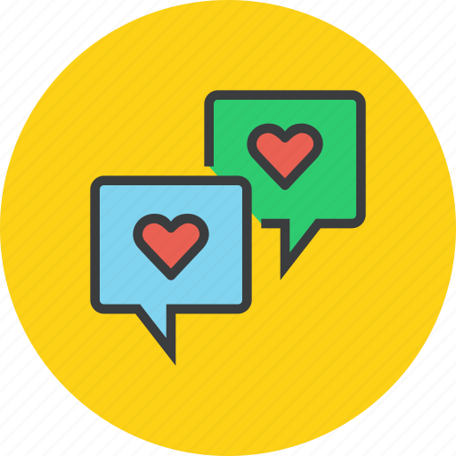 Bubble, chat, love, message, romance, talk, valentines icon - Download on Iconfinder
