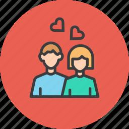 couple, day, heart, love, romance, romantic, valentines icon