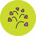 blossom, day, heart, love, romance, tree, valentines icon