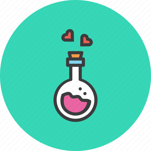 day, feelings, heart, love, potion, romance, valentines icon
