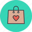 bag, day, love, purchase, romance, shopping, valetines