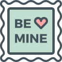 stamp, be, mine icon