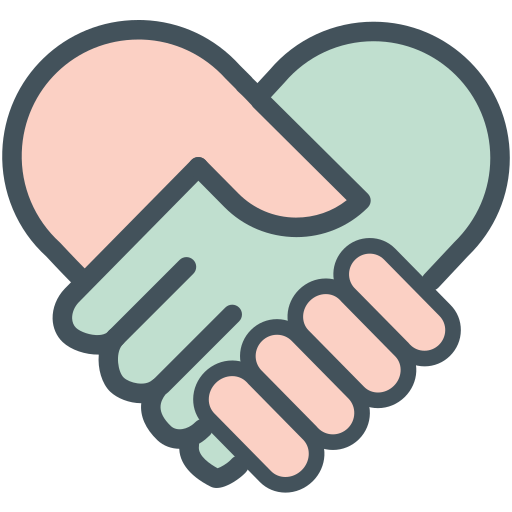 hands, heart icon