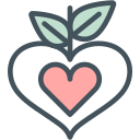 heart, leaves icon