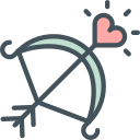 bow, cupid, love, valentines icon